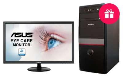 Компьютер Avtech Biostar A68N-2100K/4GB/SSD 120GB, черный